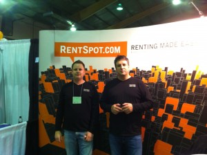 Craig & Dennis infront of our Rent Spot Booth
